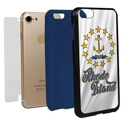 Guard Dog Rhode Island State Flag Hybrid Phone Case for iPhone 7/8/SE
