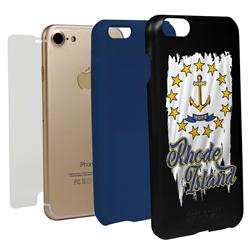 Guard Dog Rhode Island Torn State Flag Hybrid Phone Case for iPhone 7/8/SE