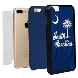 Guard Dog South Carolina State Flag Hybrid Phone Case for iPhone 7 Plus / 8 Plus