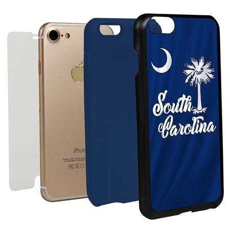 Guard Dog South Carolina State Flag Hybrid Phone Case for iPhone 7/8/SE