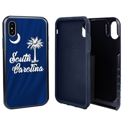 Guard Dog South Carolina State Flag Hybrid Phone Case for iPhone X / Xs