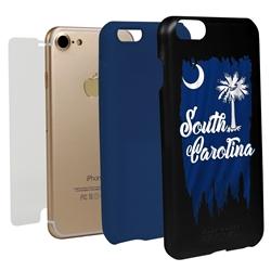 Guard Dog South Carolina Torn State Flag Hybrid Phone Case for iPhone 7/8/SE