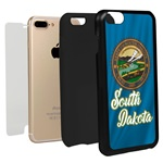 Guard Dog South Dakota State Flag Hybrid Phone Case for iPhone 7 Plus / 8 Plus
