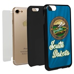 Guard Dog South Dakota State Flag Hybrid Phone Case for iPhone 7 / 8