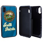 South Dakota State Flag Hybrid Case for iPhone X / Xs