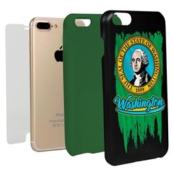 Guard Dog Washington Torn State Flag Hybrid Phone Case for iPhone 7 Plus / 8 Plus
