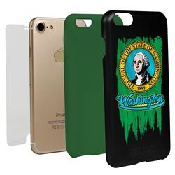 Guard Dog Washington Torn State Flag Hybrid Phone Case for iPhone 7/8/SE