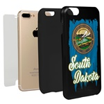 South Dakota Torn State Flag Hybrid Case for iPhone 7 Plus / 8 Plus