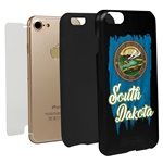 South Dakota Torn State Flag Hybrid Case for iPhone 7 / 8
