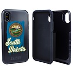South Dakota Torn State Flag Hybrid Case for iPhone X / Xs