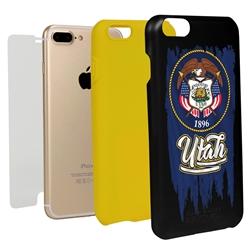 Guard Dog Utah Torn State Flag Hybrid Phone Case for iPhone 7 Plus / 8 Plus
