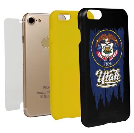 Guard Dog Utah Torn State Flag Hybrid Phone Case for iPhone 7/8/SE