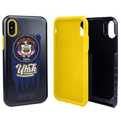 Guard Dog Utah Torn State Flag Hybrid Phone Case for iPhone X / Xs
