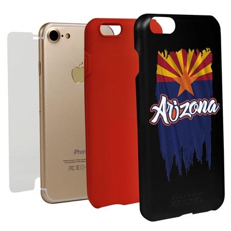 Guard Dog Arizona Torn State Flag Hybrid Phone Case for iPhone 7 / 8