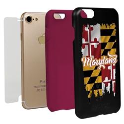 Guard Dog Maryland Torn State Flag Hybrid Phone Case for iPhone 7/8/SE