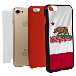 Guard Dog California State Flag Hybrid Phone Case for iPhone 7/8/SE