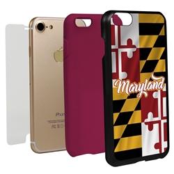 Guard Dog Maryland State Flag Hybrid Phone Case for iPhone 7/8/SE