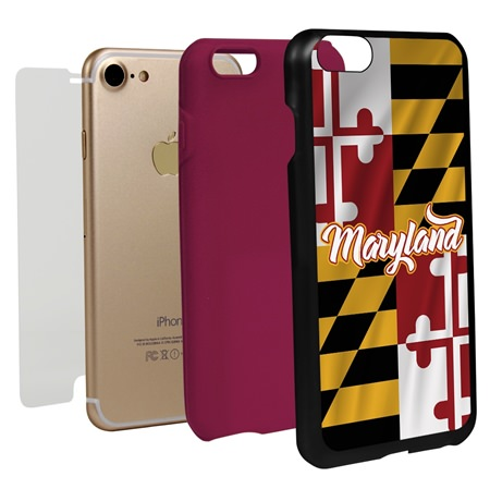 Guard Dog Maryland State Flag Hybrid Phone Case for iPhone 7 / 8