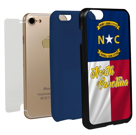 Guard Dog North Carolina State Flag Hybrid Phone Case for iPhone 7 / 8