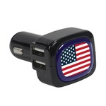 United States Flag Collection 4-Port USB Car Charger