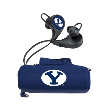 BYU Cougars HX-300 Bluetooth Earbuds