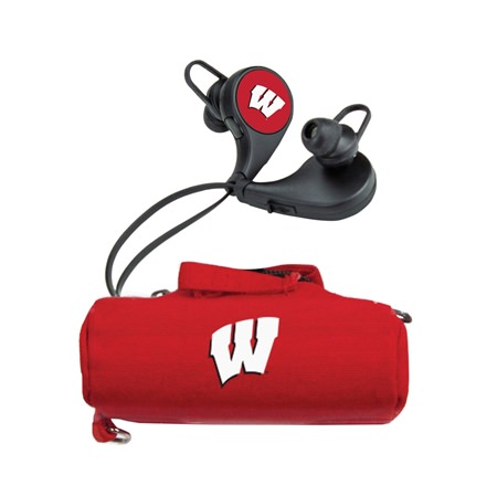 Wisconsin Badgers HX-300 Bluetooth Earbuds