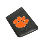 Clemson Tigers Card Keeper Leather Phone Wallet with RFID Protection
