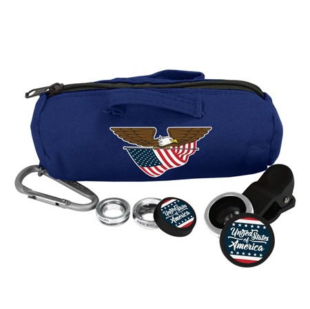 United States Flag Collection 3-in-1 Camera Lens Kit