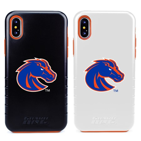 Boise State Broncos Hybrid Case for iPhone XS Max with Guard Glass Screen Protector