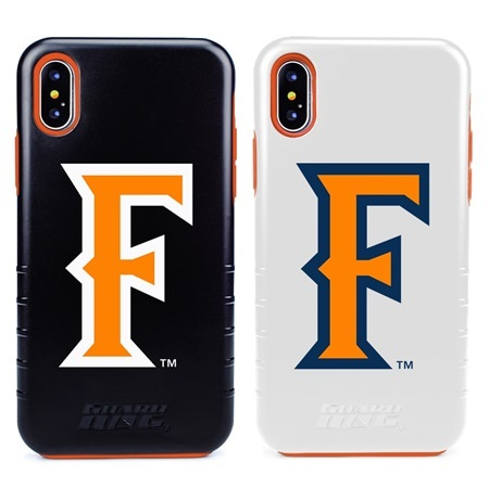Guard Dog Cal State Fullerton Titans Hybrid Phone Case for iPhone XS Max with Guard Glass Screen Protector