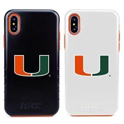 Guard Dog U Miami Hurricanes Hybrid Phone Case for iPhone XS Max