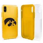 Guard Dog Iowa Hawkeyes Clear Hybrid Phone Case for iPhone XS Max with Guard Glass Screen Protector