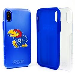 Guard Dog Kansas Jayhawks Clear Hybrid Phone Case for iPhone XS Max