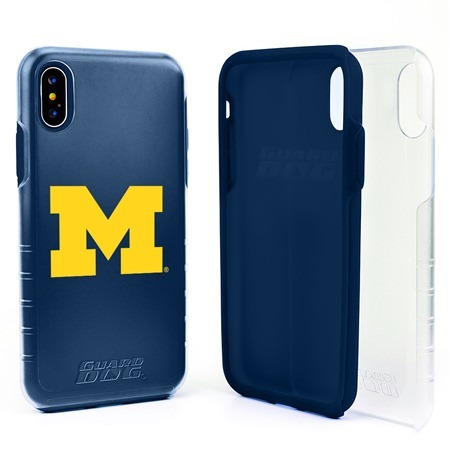 Guard Dog Michigan Wolverines Clear Hybrid Phone Case for iPhone XS Max