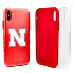 Guard Dog Nebraska Cornhuskers Clear Hybrid Phone Case for iPhone XS Max with Guard Glass Screen Protector
