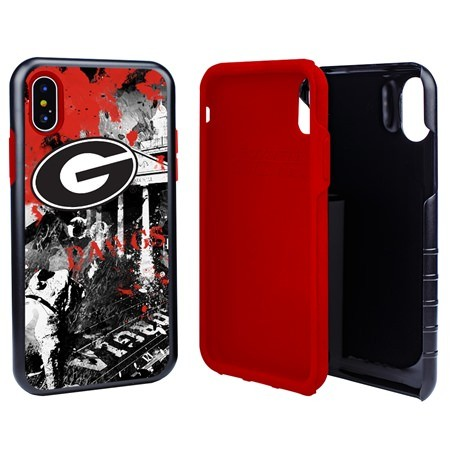 Guard Dog Georgia Bulldogs PD Spirit Hybrid Phone Case for iPhone XS Max with Guard Glass Screen Protector