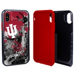 Indiana Hoosiers PD Spirit Hybrid Case for iPhone XS Max with Guard Glass Screen Protector
