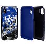 Guard Dog Kentucky Wildcats PD Spirit Hybrid Phone Case for iPhone XS Max with Guard Glass Screen Protector