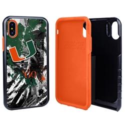 Guard Dog U Miami Hurricanes PD Spirit Hybrid Phone Case for iPhone XS Max