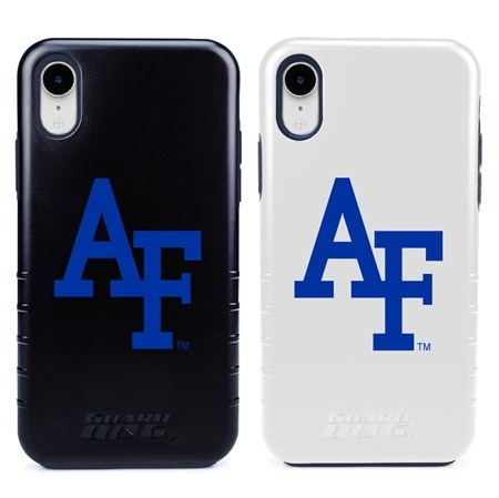 Guard Dog Air Force Falcons Hybrid Phone Case for iPhone XR with Guard Glass Screen Protector