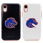Boise State Broncos Hybrid Case for iPhone XR with Guard Glass Screen Protector