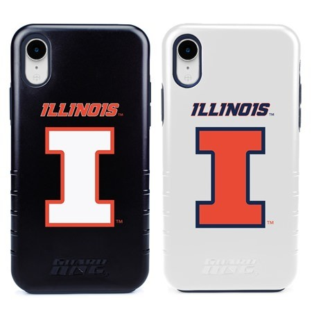 Guard Dog Illinois Fighting Illini Hybrid Phone Case for iPhone XR with Guard Glass Screen Protector