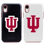 Indiana Hoosiers Hybrid Case for iPhone XR with Guard Glass Screen Protector