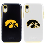 Guard Dog Iowa Hawkeyes Hybrid Phone Case for iPhone XR with Guard Glass Screen Protector