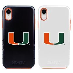 Guard Dog U Miami Hurricanes Hybrid Phone Case for iPhone XR