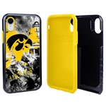Guard Dog Iowa Hawkeyes PD Spirit Hybrid Phone Case for iPhone XR with Guard Glass Screen Protector