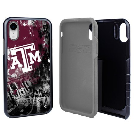 Guard Dog Texas A&M Aggies PD Spirit Hybrid Phone Case for iPhone XR with Guard Glass Screen Protector