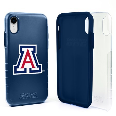 Guard Dog Arizona Wildcats Clear Hybrid Phone Case for iPhone XR with Guard Glass Screen Protector