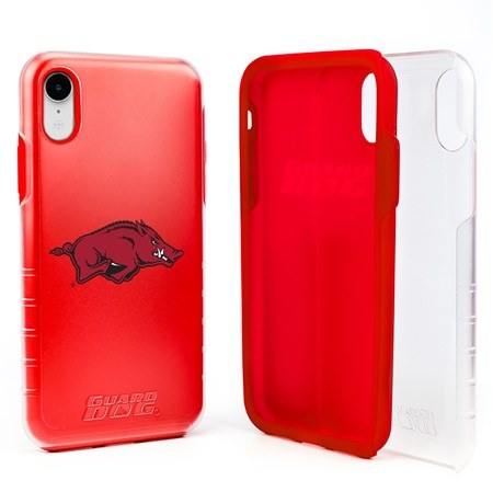 Guard Dog Arkansas Razorbacks Clear Hybrid Phone Case for iPhone XR