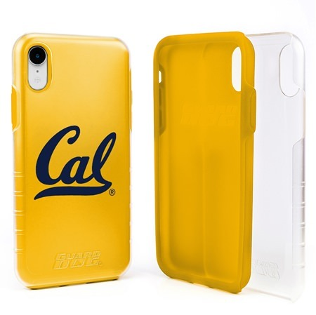 Guard Dog Cal Berkeley Golden Bears Clear Hybrid Phone Case for iPhone XR with Guard Glass Screen Protector